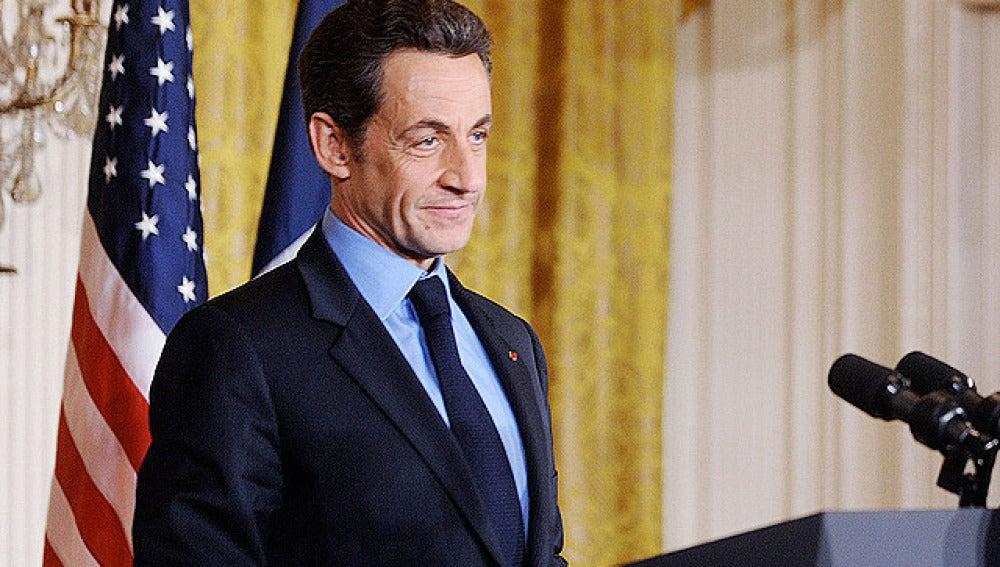 Sarkozy en la Casa Blanca