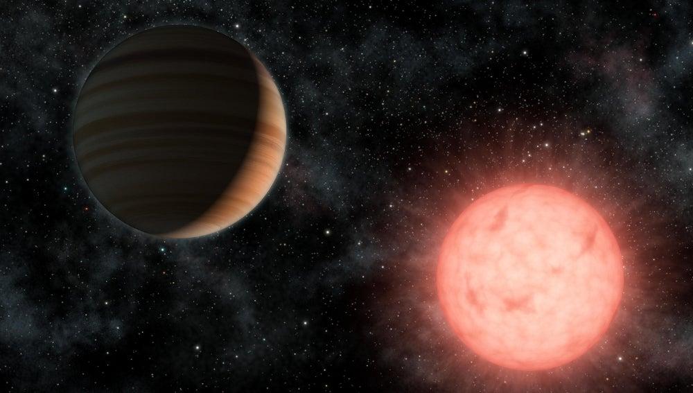 Recreación del exoplaneta GJ1214b
