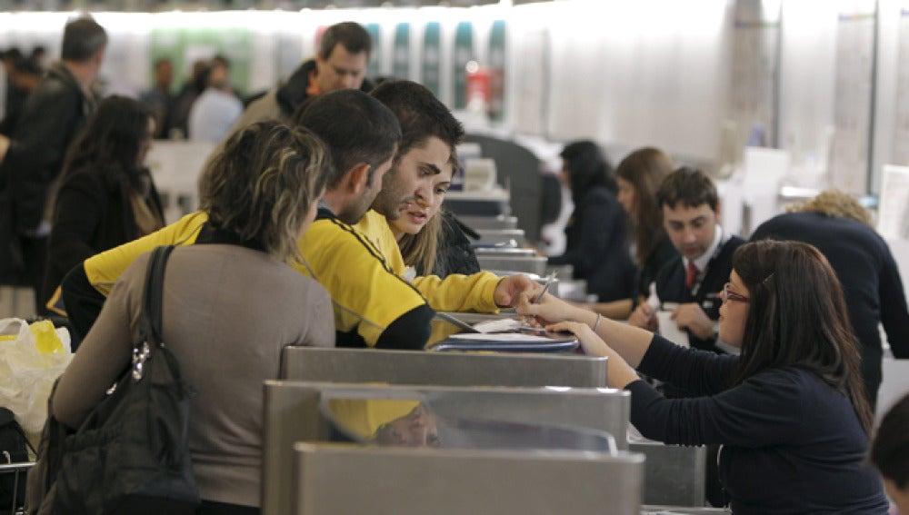 Mostradores de facturación en Barajas