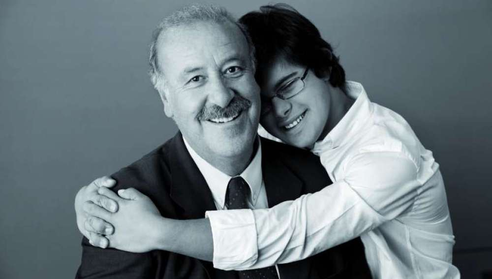 Vicente del Bosque y su hijo