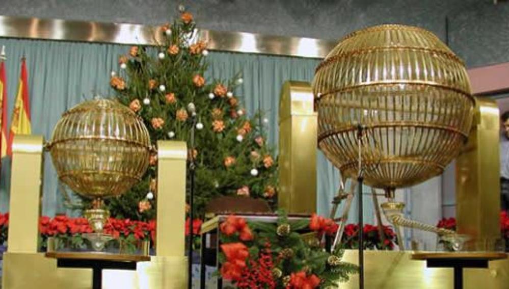 Los bombos de la Lotería de Navidad
