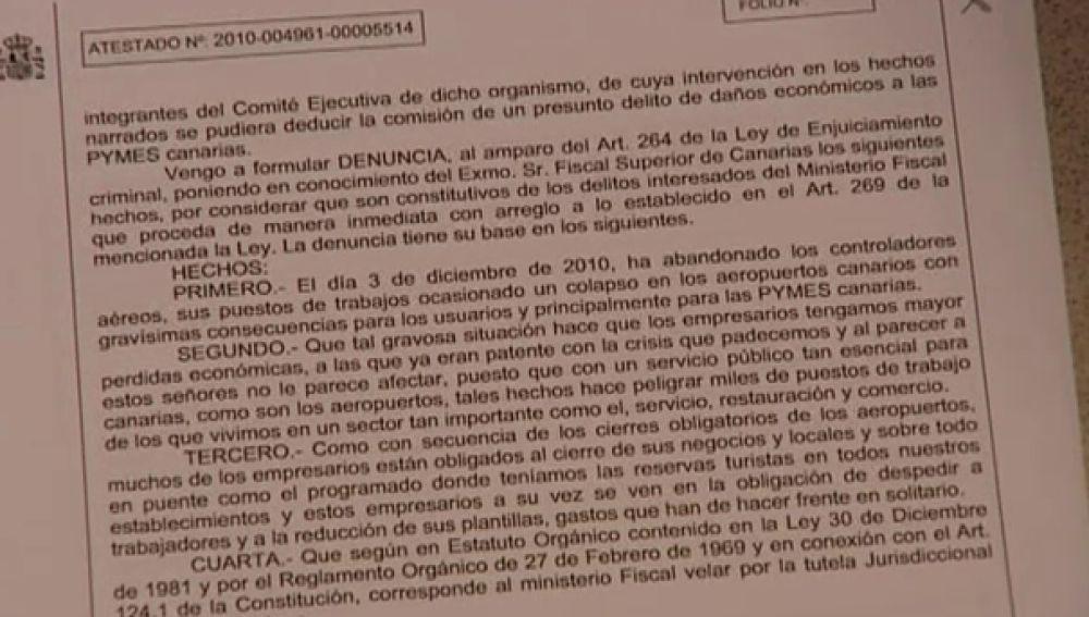 35 controladores aéreos tendrán que declarar en Canarias