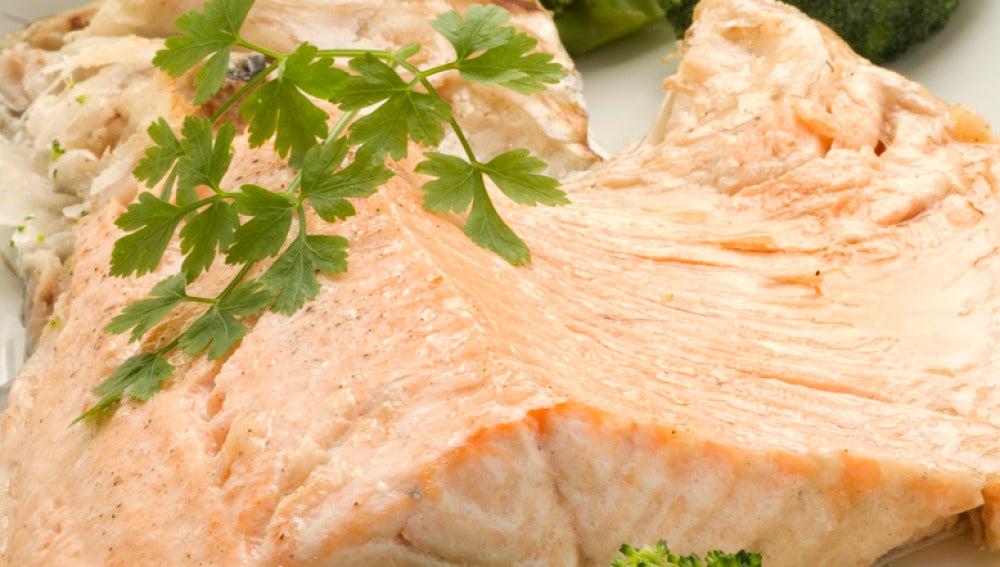Cogotes de salmón al horno