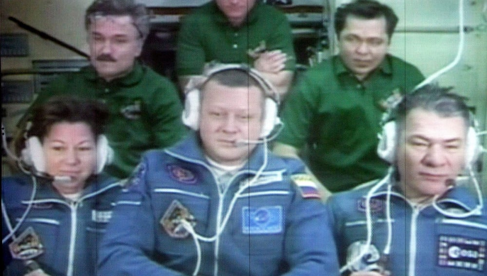 Tripulantes de la nave Soyuz