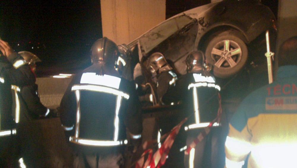 Un accidente ocurrido en la A-2 a la altura de Torrejón de Ardoz