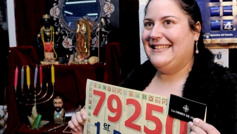 La vidente que contrataron los dueños de la administración de lotería número ocho de Alcorcón