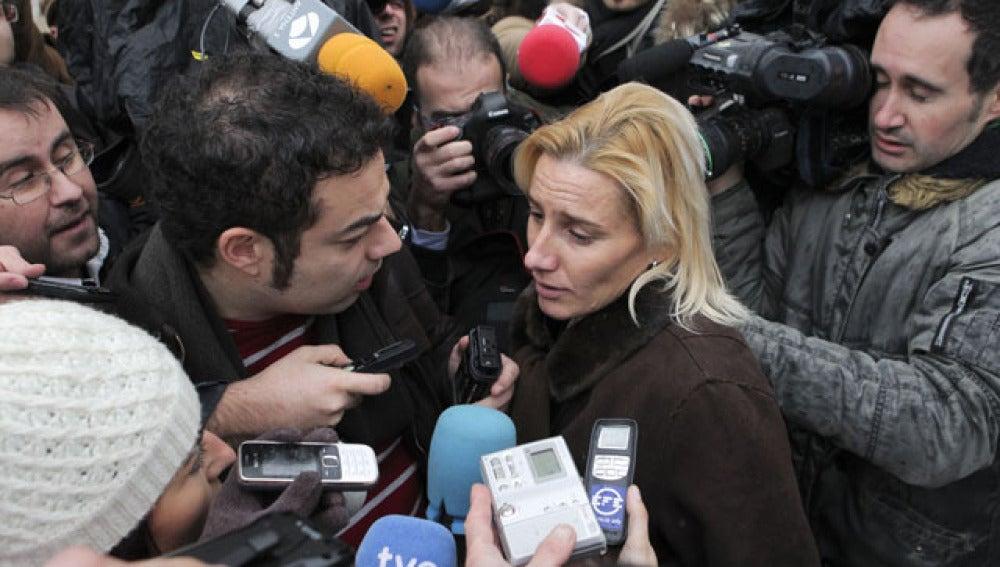 Marta Domínguez al salir de declarar ante el juez