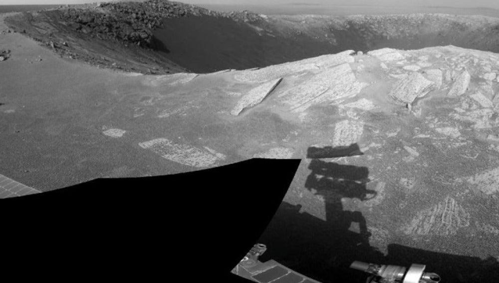 El cráter llamado coloquialmente 'Santa María'