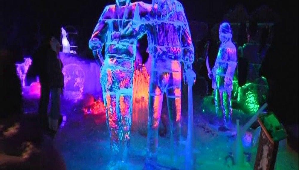 Festival de esculturas de hielo en Alemania
