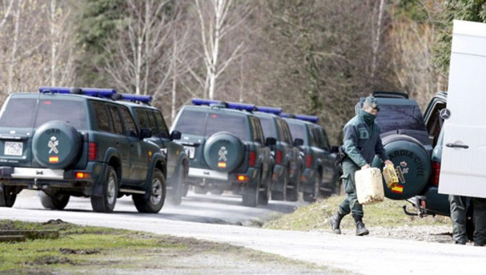 La Guardia Civil halla zulos en el País Vasco en febrero del pasado año