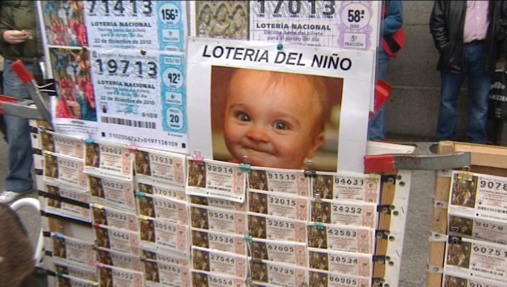 Puesto de lotería en la calle