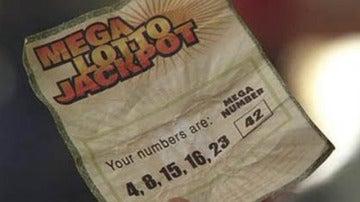 Boleto con los números de 'Lost' ganador del Mega Millions