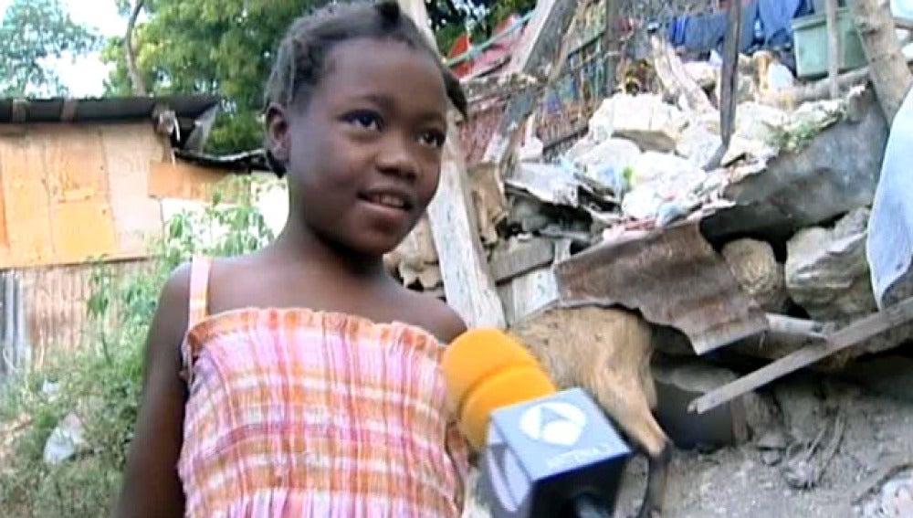 Niña haitiana que perdió a su padre