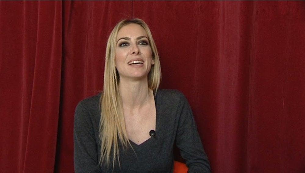 Kira Miró durante la presentación de 'Fuga'
