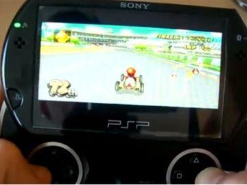 Jugando a la Wii en una PSP