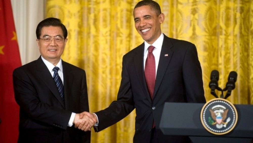 El Presidente Obama y el Presidente Chino, Hu