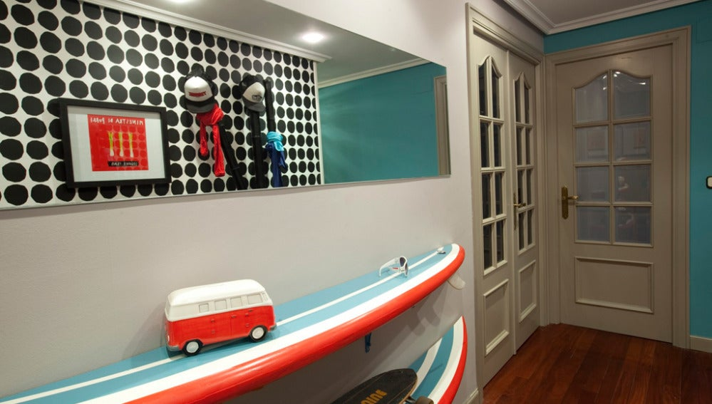Hall estilo surfero