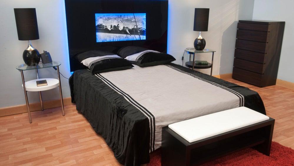 Cabecero de cama retro-iluminado