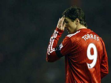 Fernando Torres con la camiseta del Liverpool