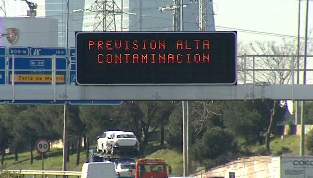 Previsión de alta contaminación