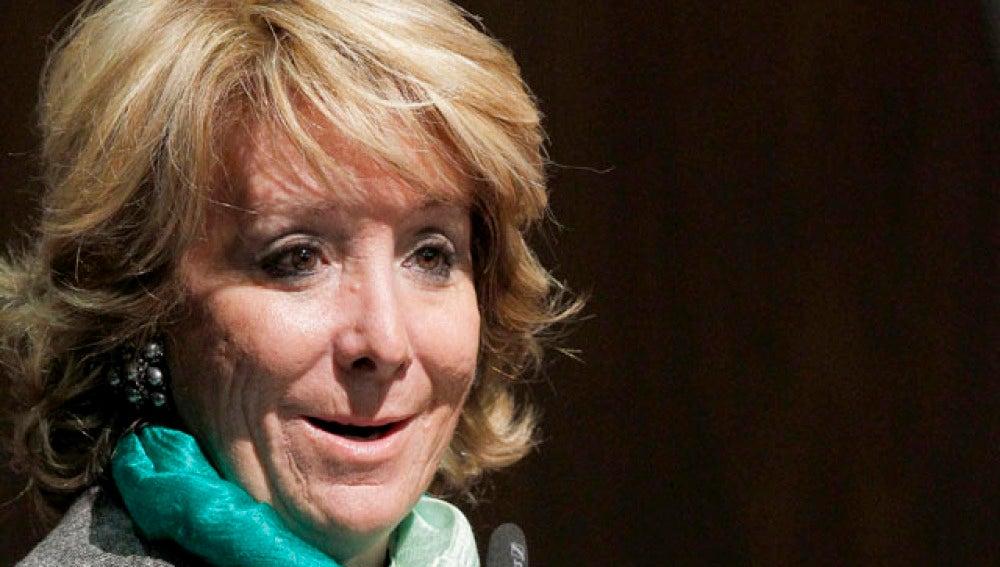 Esperanza Aguirre, presidenta de Madrid