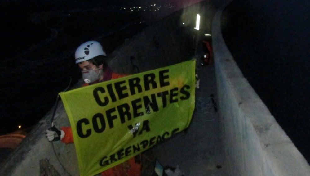 Acción de Greenpeace en Cofrentes