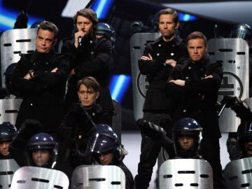 El grupo de Take That al completo