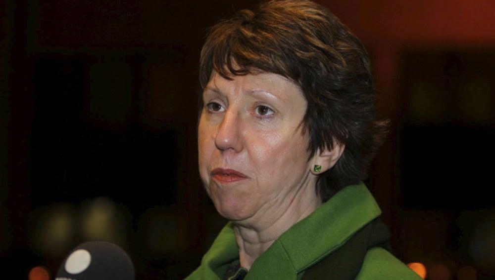 La responsable de Política Exterior de la UE, Catherine Ashton