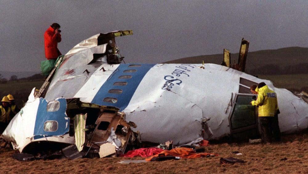 Restos del atentado de Lockerbie