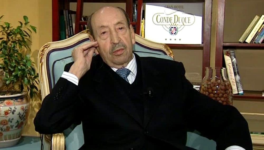 Alfonso Armada, durante la entrevista con Matías Prats