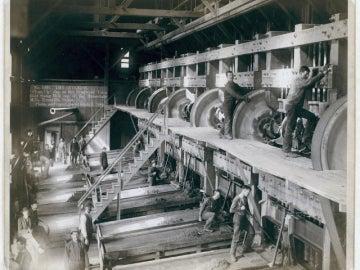 Trabajadores en una fábrica