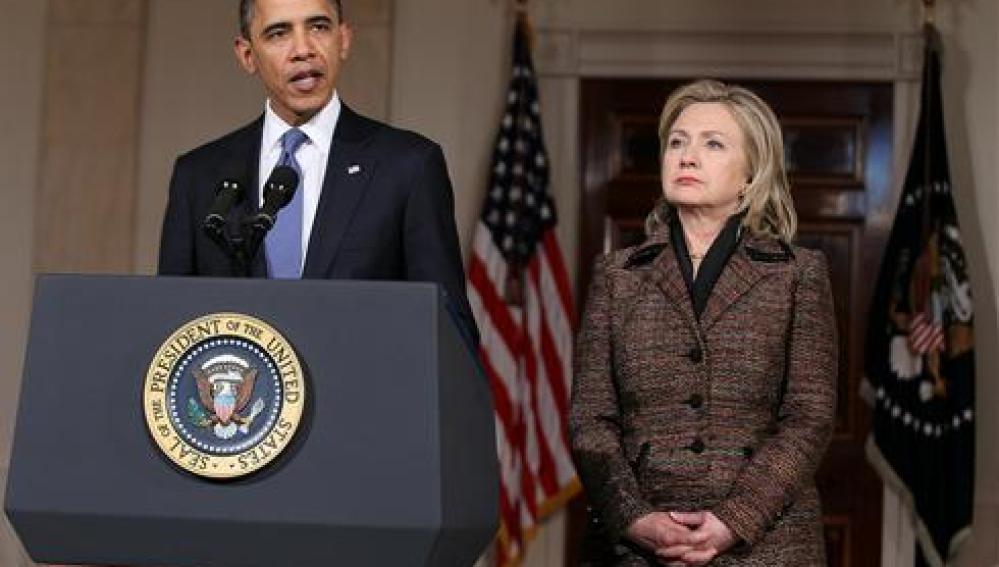 Barack Obama y Hillary Clinton