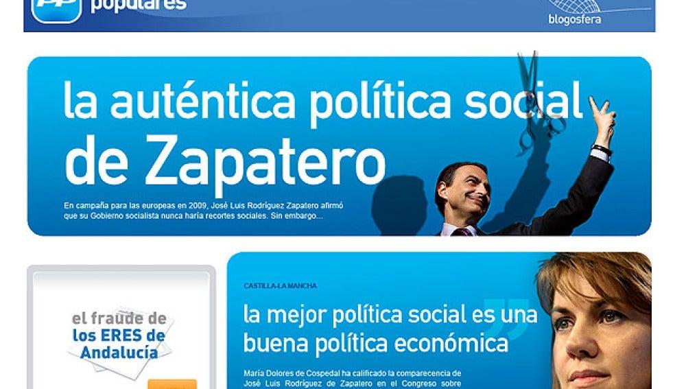 Página web del PP