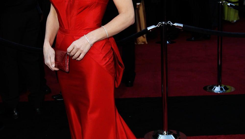 Sandra Bullock se decantó por un palabra de honor de Vera Wang