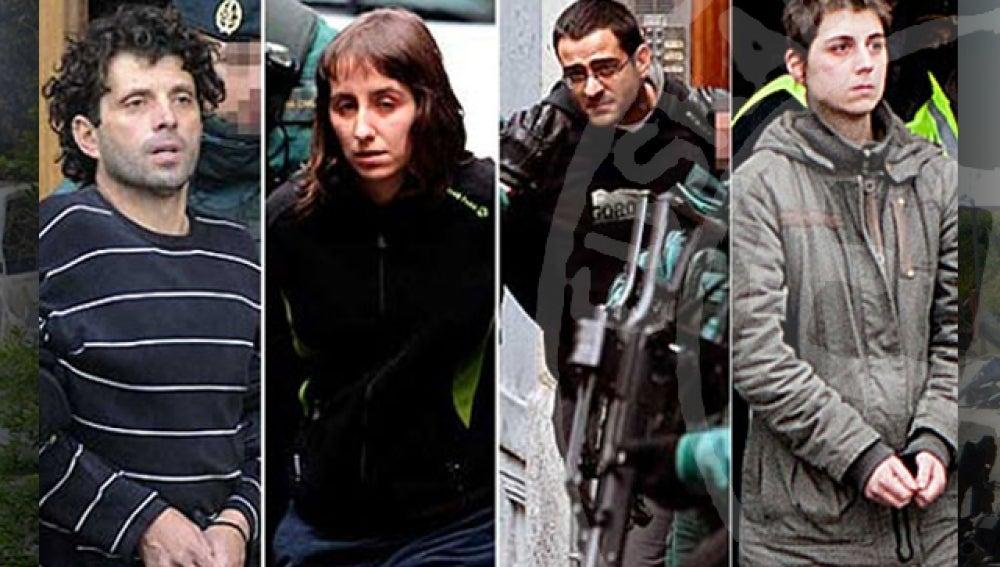 Los cuatro etarras detenidos