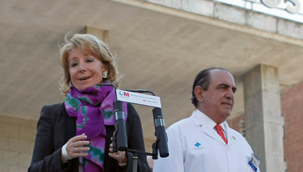 Esperanza Aguirre retomará su agenda política el próximo lunes
