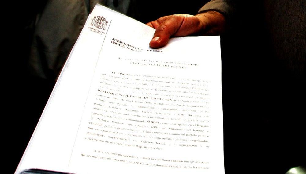 Detalle de la demanda presentada por la Fiscalía