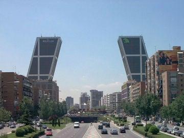 Las torres Kio de la Castellana de Madrid