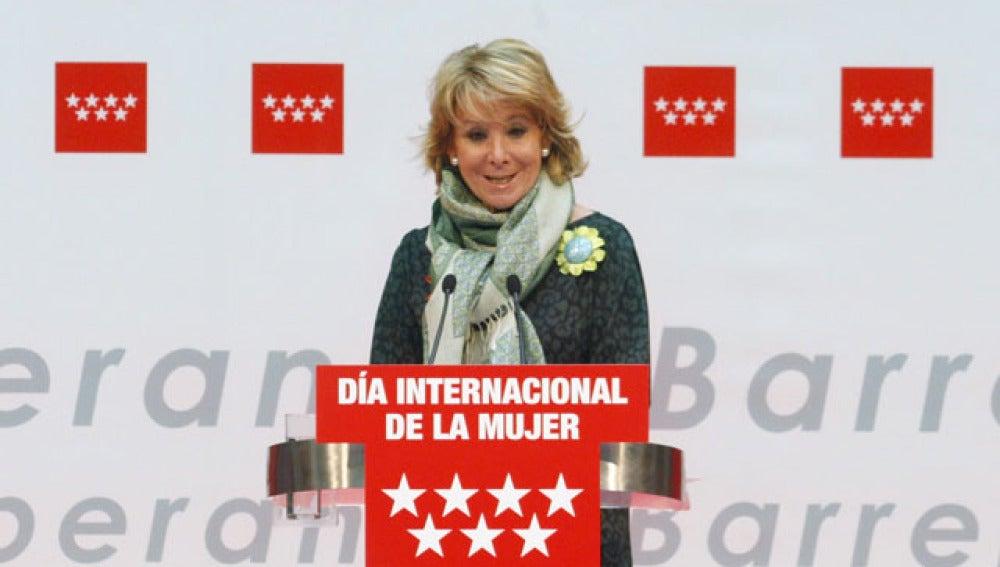 Aguirre, en el acto institucional de conmemoración del Día de la Mujer