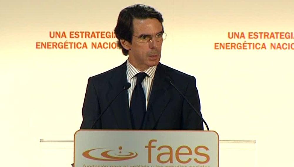 Jose Maria Aznar presidente de faes