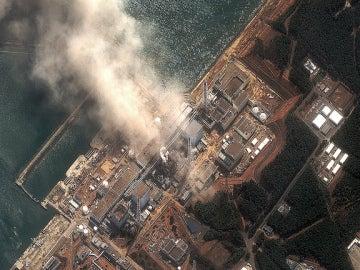 Vista aérea de la central nuclear de Fukushima