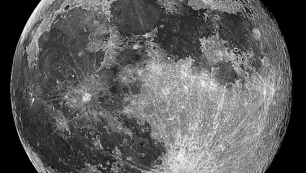 La luna, impresionante