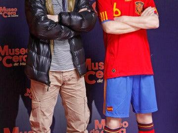 Andrés Iniesta y su doble
