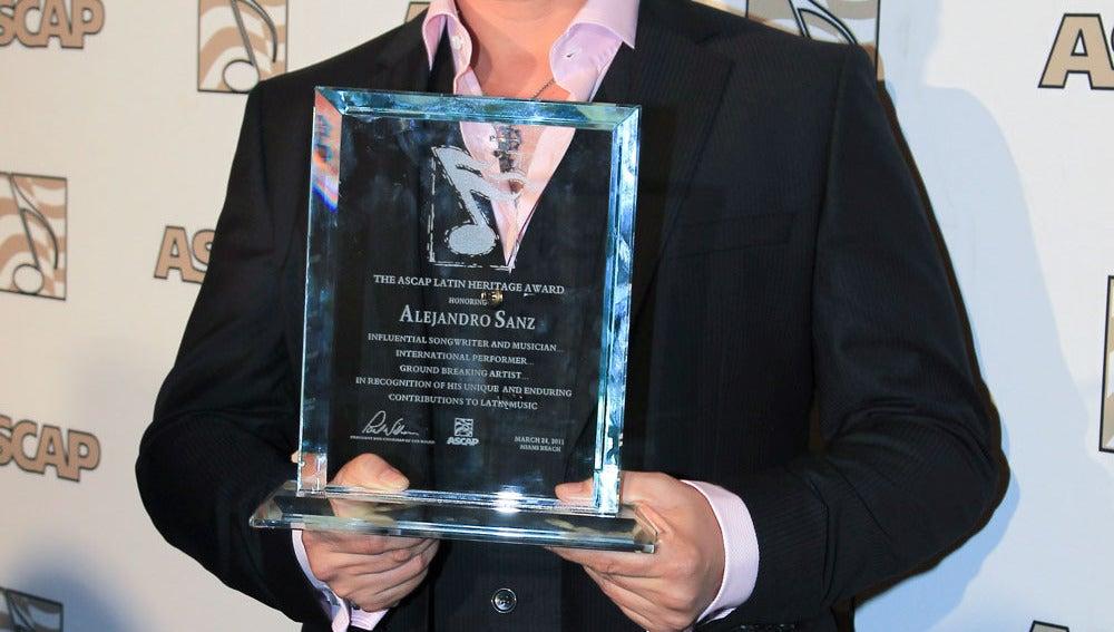 Alejandro Sanz en la gala de los premios ASCAP