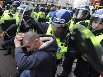 Altercados en la manifestación en Londres