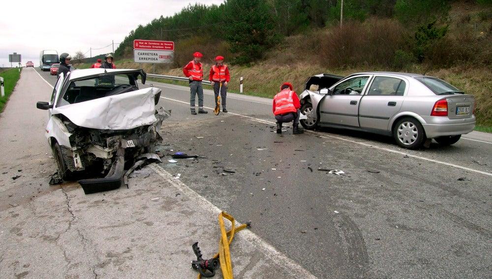Accidente en la localidad navarra de Sarasate