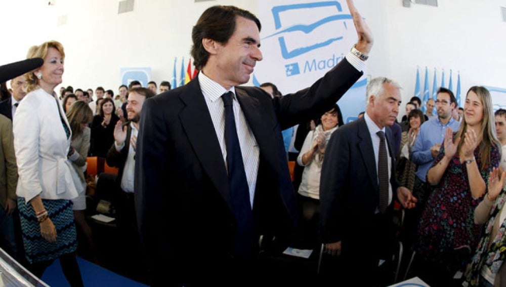 José María Aznar, en un acto político en Madrid
