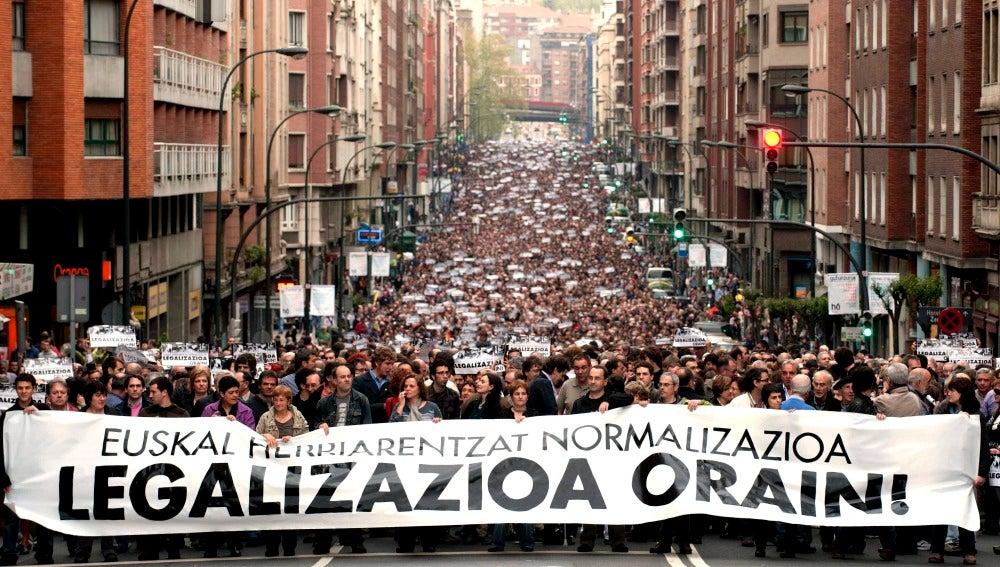 Mnifestación de ETA en Bilbao