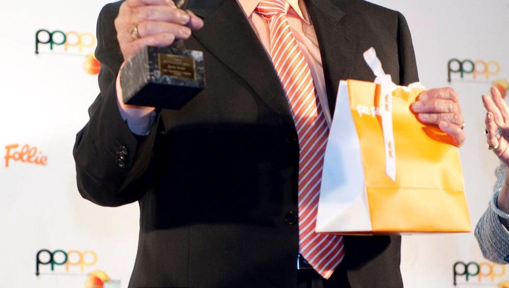 Manolo Escobar en los premios Naranja y Limón