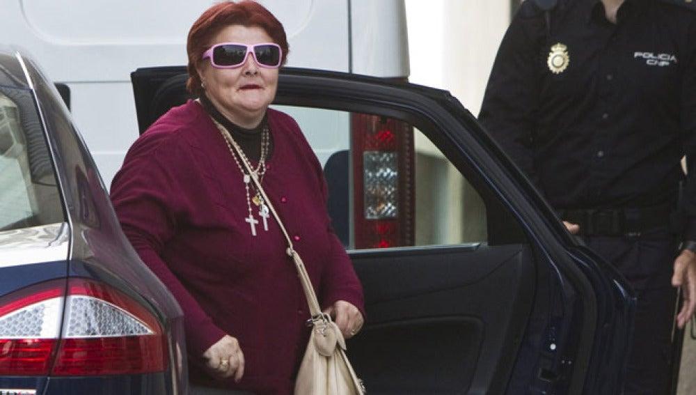 Isabel García, a su llegada al juzgado
